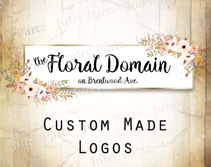 LOGO in Lt Pink POSIE•Premade Logo•Jewelry Card Logo•Flower Logo•Custom Logo•Shop Logo