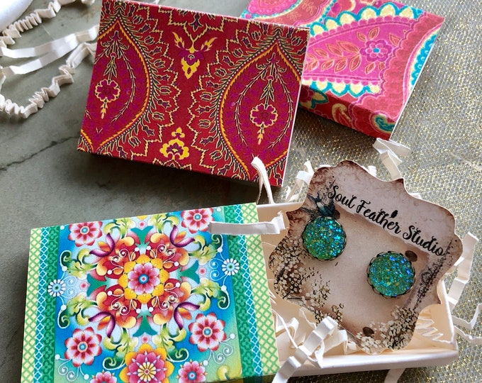 Set of 12 •2x2.60 GIFT BOX•Necklace Box•Jewelry Box•Necklace Holder•Gift Packaging•Earring Holder•Necklace Holder• Boho 3