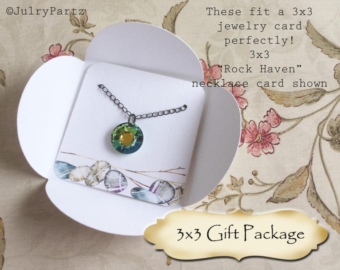 60•3x3 GIFT PACKAGE•Necklace Box•Jewelry Box•Necklace Card Holder•Gift Box•Earring Holder•Necklace Holder