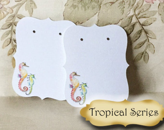 64•Colorful SEAHORSE•Earring Cards•Jewelry cards•Necklace Card•Earring Display•Earring Holder