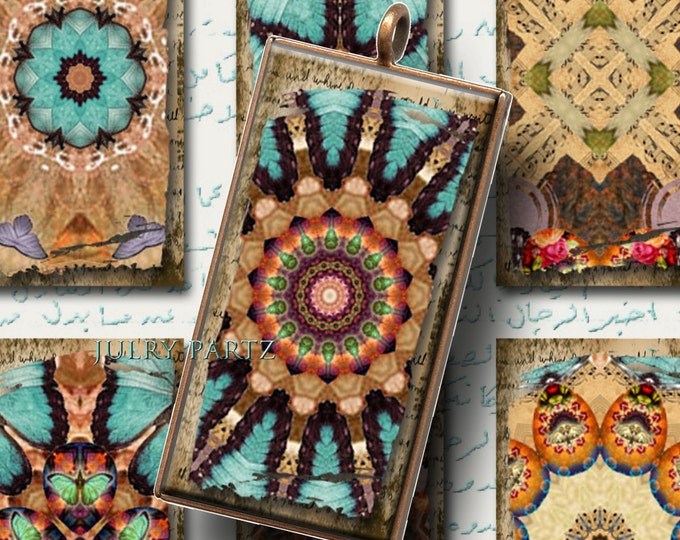 Legendary CAIRO 1x2 Mandalas, Printable Digital Images, Cards, Gift Tags,Stickers, Scrabble Tiles, Magnets