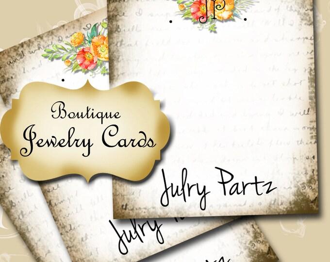 BOUQUET 2•Earring Cards•Jewelry Card•Earring Display•Earring Holder•Custom Earring Card•Boutique Card