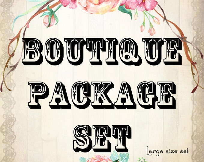 Custom BOUTIQUE PACKAGE Starter Set Large•Jewelry Cards•Boutique Tags•Custom Cards•Earring Cards•Business Cards•Package Set