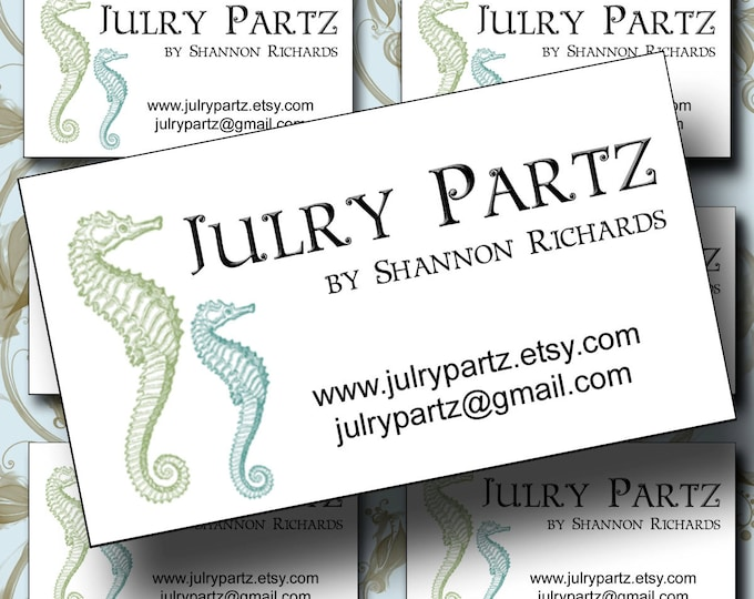 "SEAHORSES Business Cards, 3.5 X 2"" , Cards, Custom Business Cards, Calling Cards"