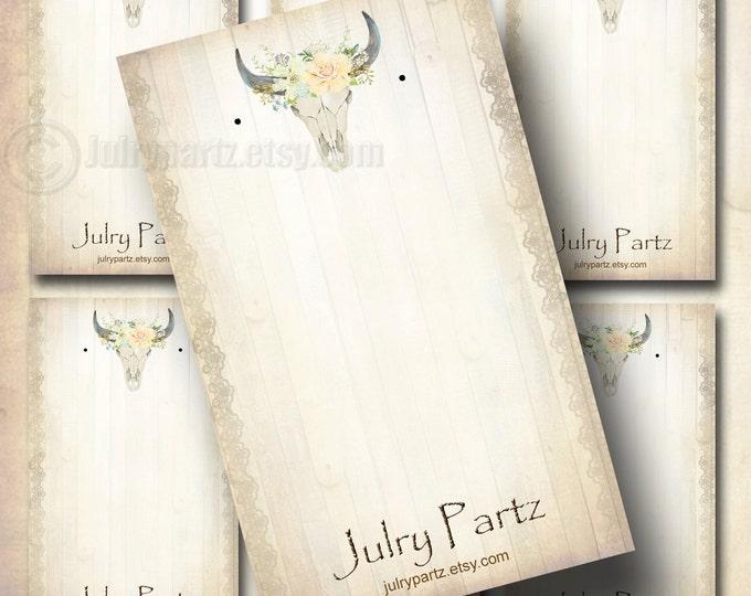 PASTEL SKULL #1•Earring Cards•Jewelry Cards•Earring Display•Earring Holder•Custom Earring Card•Southwest series