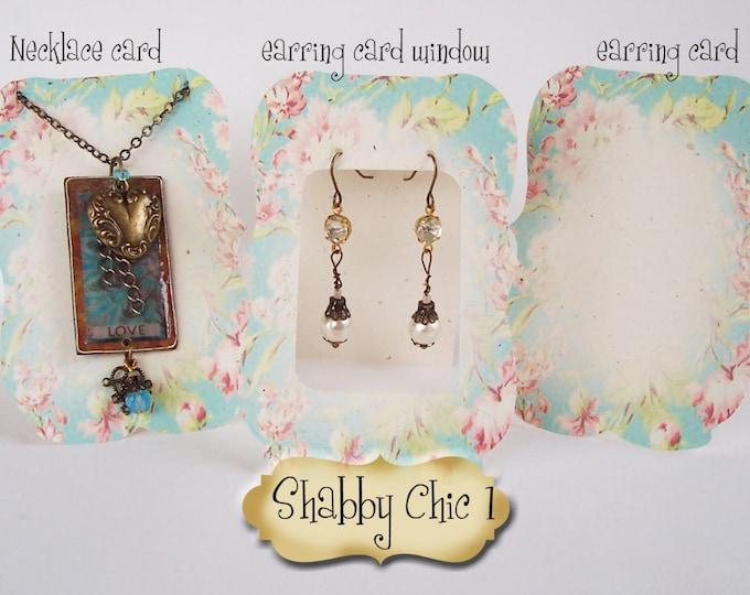36•ZOE•SHABBY #1•Earring Cards•Jewelry Cards•Necklace Card•Earring Display•Earring Holder•Necklace Holder