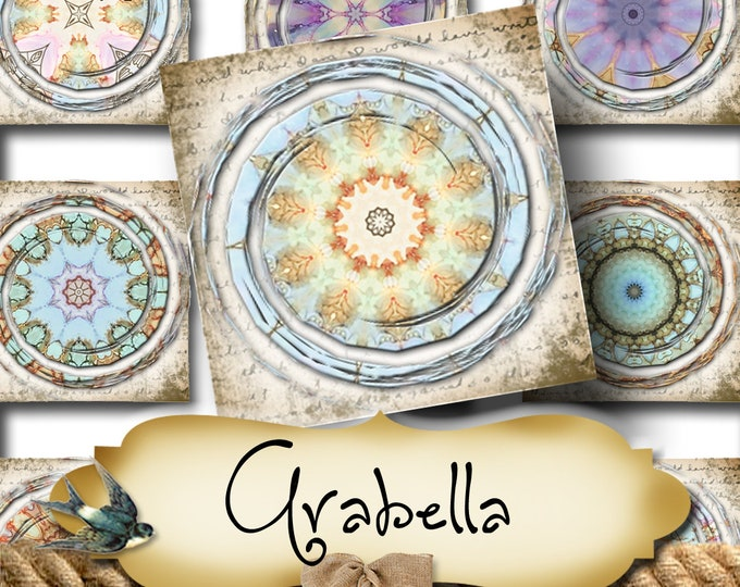 ARABELLA Galaxy•1x1 Square Images•Printable Digital Images•Cards•Gift Tags•Stickers•Magnets•Digital Collage Sheet