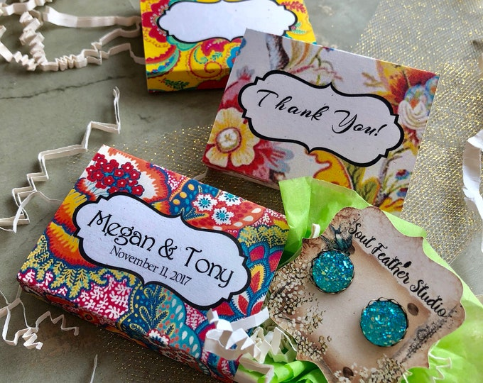 Set of 12 •2x2.60 GIFT BOX•Necklace Box•Jewelry Box•Necklace Holder•Gift Packaging•Earring Holder•Necklace Holder• Boho 5