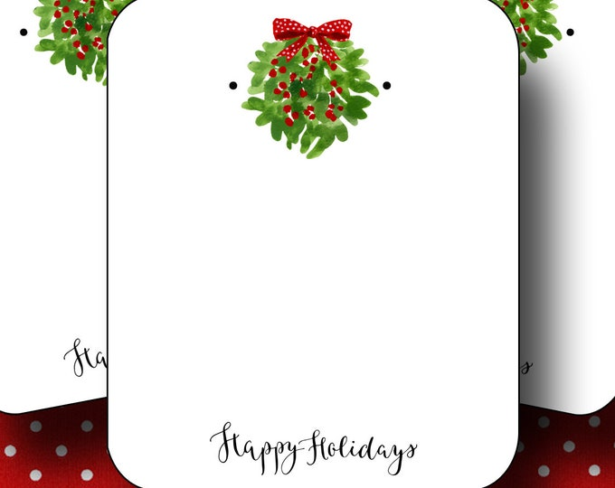 HOLIDAY•Earring Cards•2x3 Earring Cards•Jewelry Cards•Holiday Tags•Christmas Earring Cards•Holiday Labels•Christmas Tags•Mistletoe 1