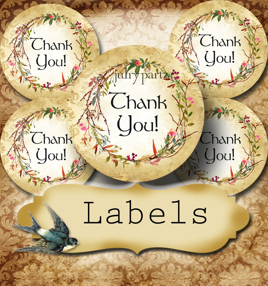 Premade •60 custom 1 5 x 1 5 round stickers•round labels