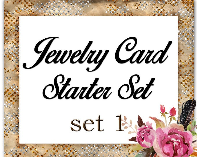 Custom Starter PACKAGE•Jewelry Cards•Boutique Tags•Custom Cards•Earring Cards•Business Cards•Package Set•SET 1