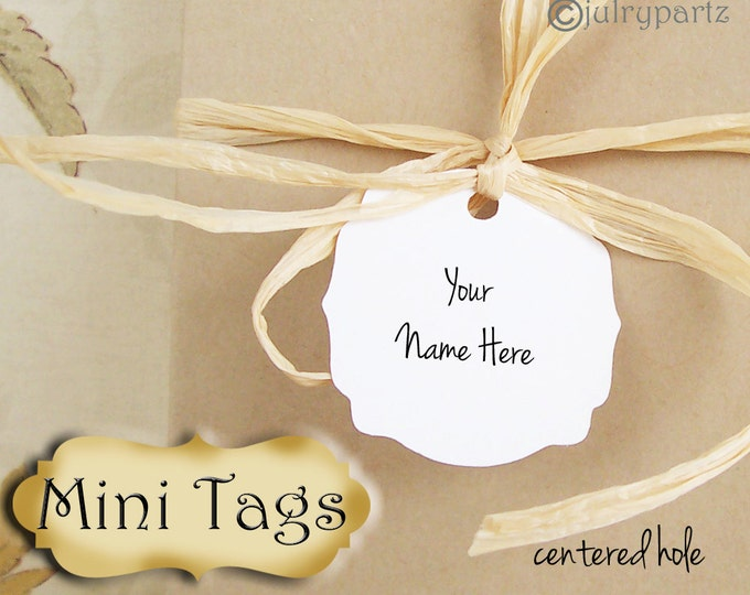 30•MINI TAGS #7 • 1.5 X 1.5 inch•Necklace Tags•Bracelet Tags•Price Tags•Clothing Tags•Favor Tags•