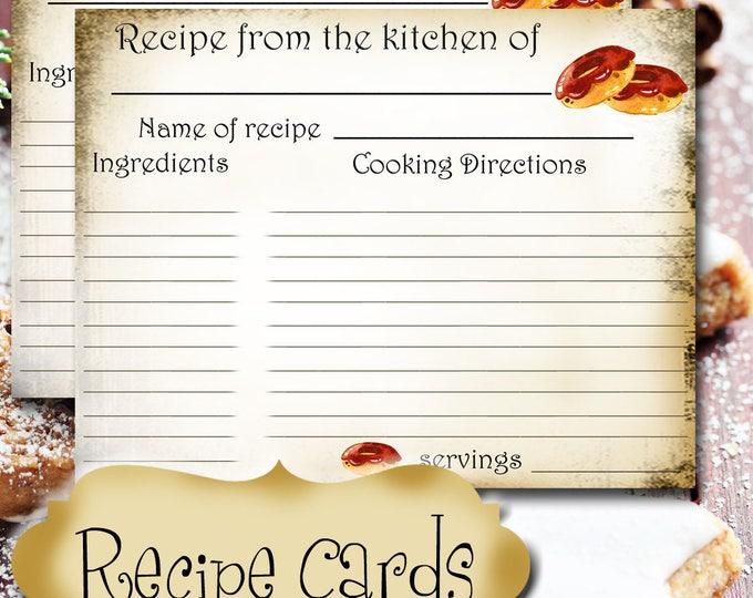 Chocolate Doughnut RECIPE CARD•Recipe Card•Wedding Gift•New Home•New Bride