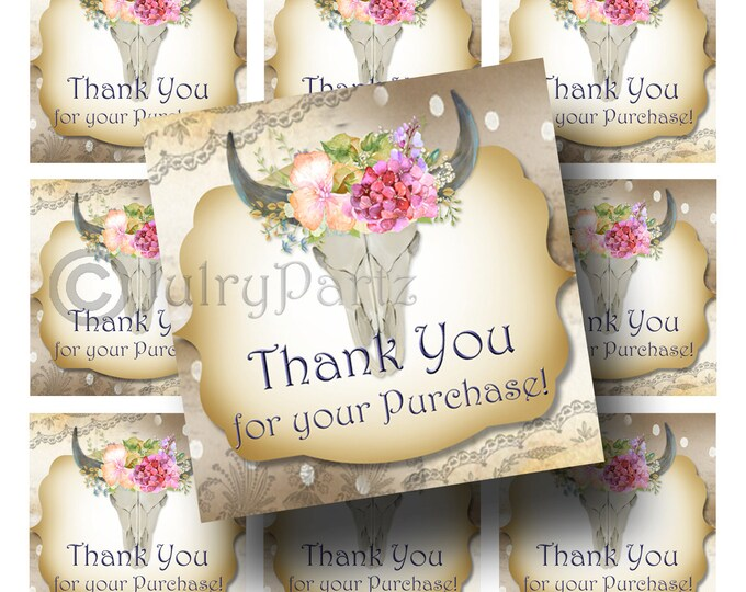 30-DIY Spring Floral Tags•Gift Tags•Paper Tags•Price Tags•Clothing Tags•Thank you for your purchase tags