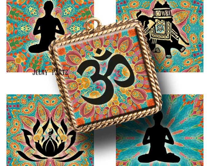 GYPSY HEART Meditation, 1x1square images, Printable Digital Images, Cards, Gift Tags, Stickers, Scrabble Tiles, Magnets