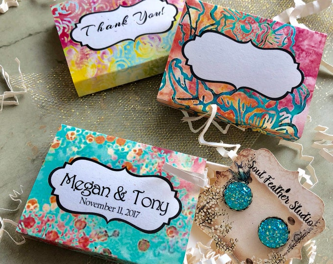 Set of 12 •2x2.60 GIFT BOX•Necklace Box•Jewelry Box•Necklace Holder•Gift Packaging•Earring Holder•Necklace Holder• Boho 6