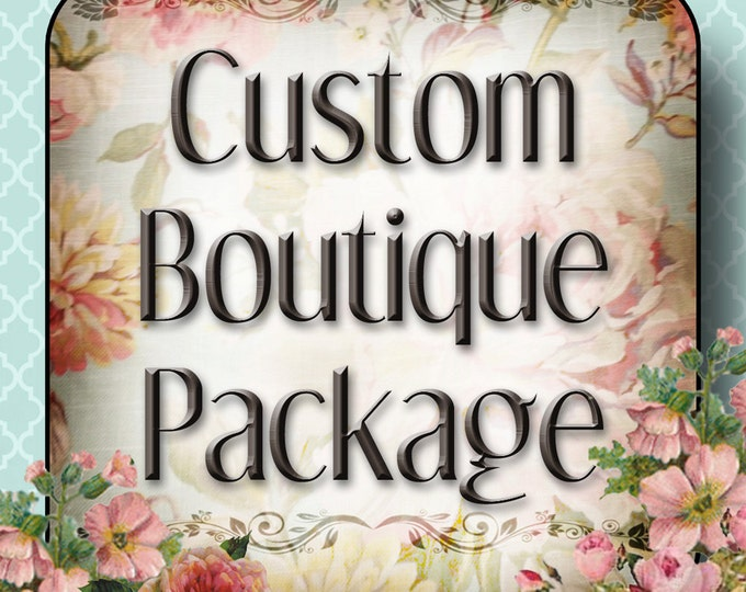 Custom BOUTIQUE PACKAGE Extra Large•Jewelry Cards•Boutique Tags•Custom Cards•Earring Cards•Business Cards•Package Set