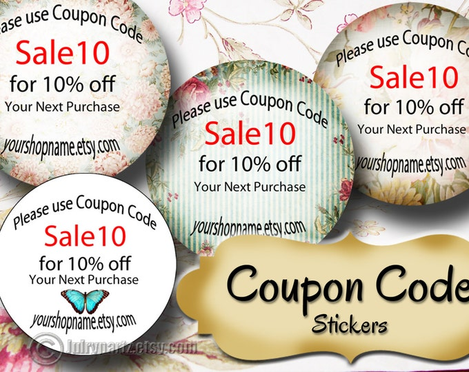 60•COUPON CODE•1.5 x 1.5 Round STICKERS•Round Labels•Package Labels•Custom Stickers•Custom Labels•Packaging