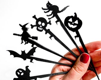 Halloween drink stir stick party favors for adults Halloween party decor Halloween drink markers swizzle sticks Halloween party supplies