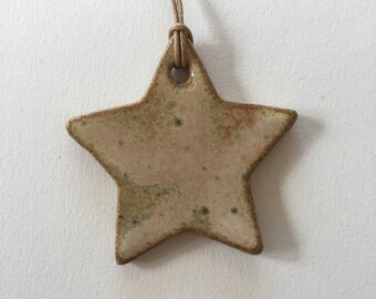 Ceramic Star Ornament - Mellow Yellow