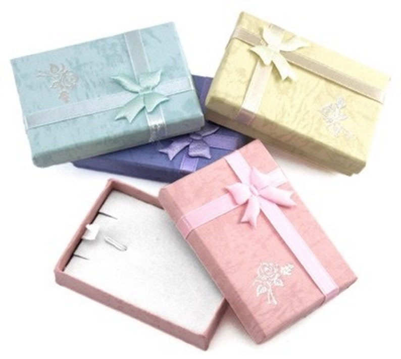 Jewellery Necklace Gift Box Choose Your Colour X 2