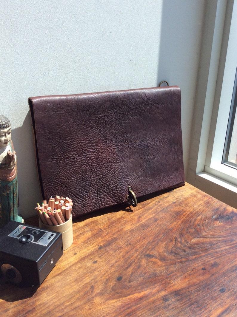 d005ad868b Slim computer bag Handmade leather messenger Laptop bag with