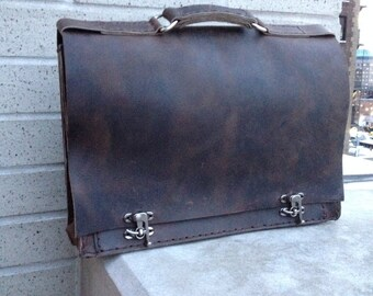 Leather briefcase, Work satchel, Leather work bag, Computer briefcase, Mens leather satchel, Laptop business bag, Briefcase for men, NY made