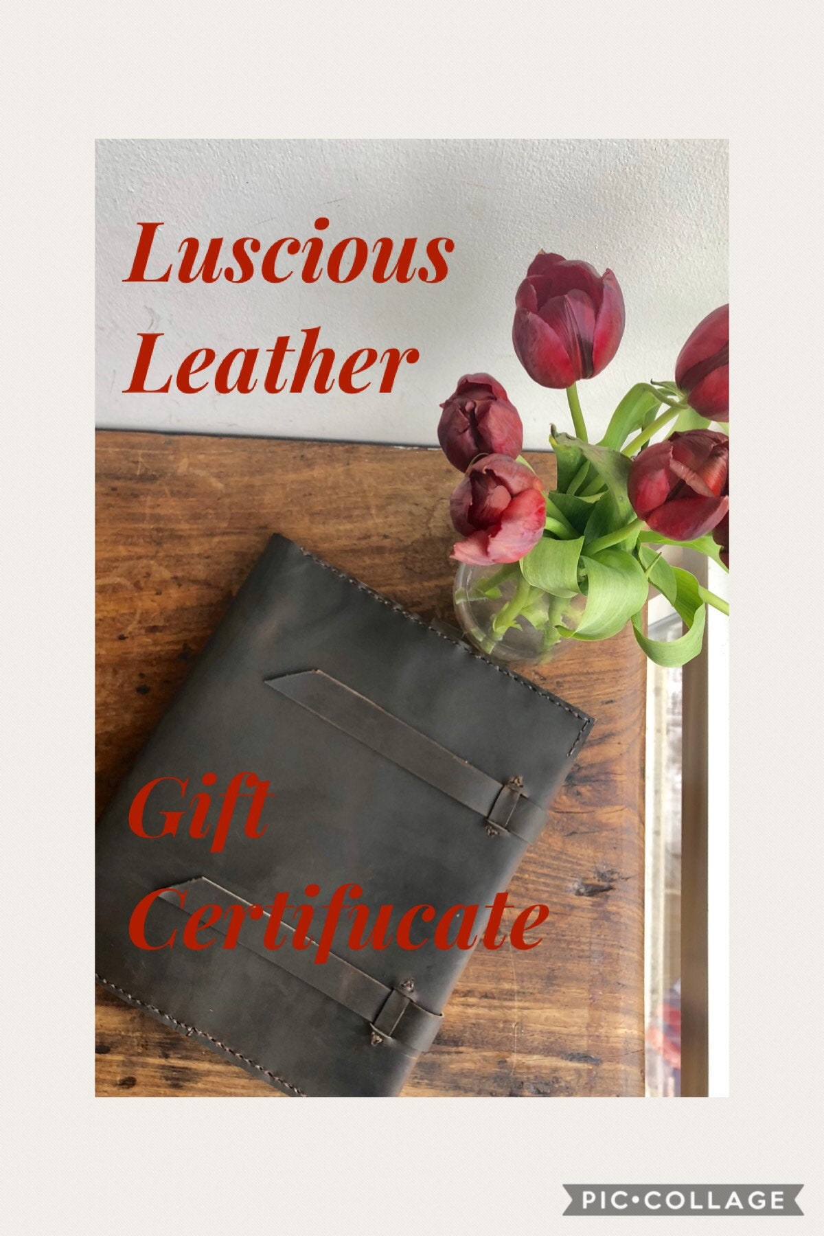 Gift Certificate Custom Leather Goods Luscious Fathers Day Graduation Birthday Made By Hand In NYC