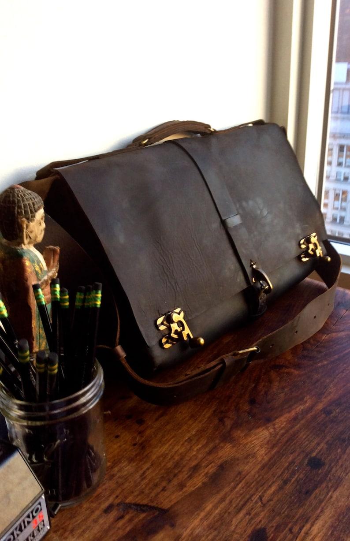 dca4f1d9f2 Large computer bag 17 laptop satchel Leather work bag