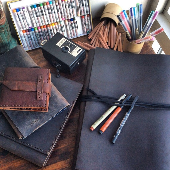 Ring Binder Leather 3 Ring Binder Large Leather Notebook