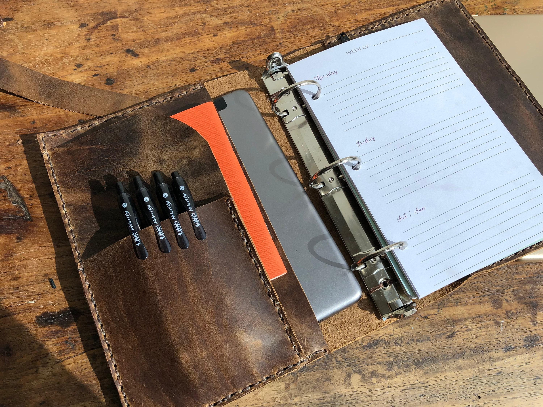 3 ring binder, Personal organizer, Refillable notebook, Mini