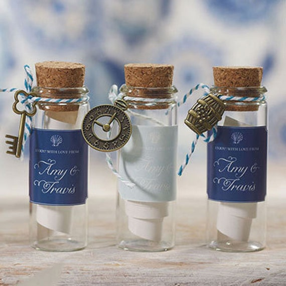 Small Glass Bottle With Cork Stopper Wedding Favor Set of 6 | Etsy
