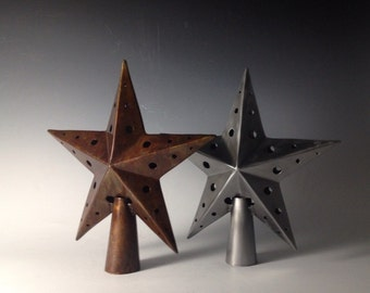Star decoration, metal decoration, Steel tree topper, star christmas tree topper