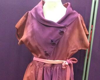 Ombre Taffeta 1940s Dress by Darcee