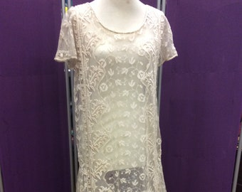 Who's for tea?  Marvelous lace 1920s chemise