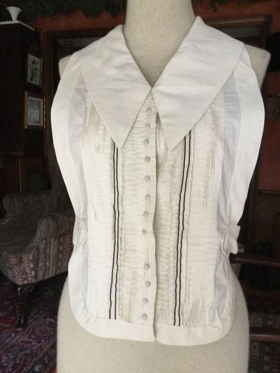 1920s pintucked shirtfront tuxedo dickie