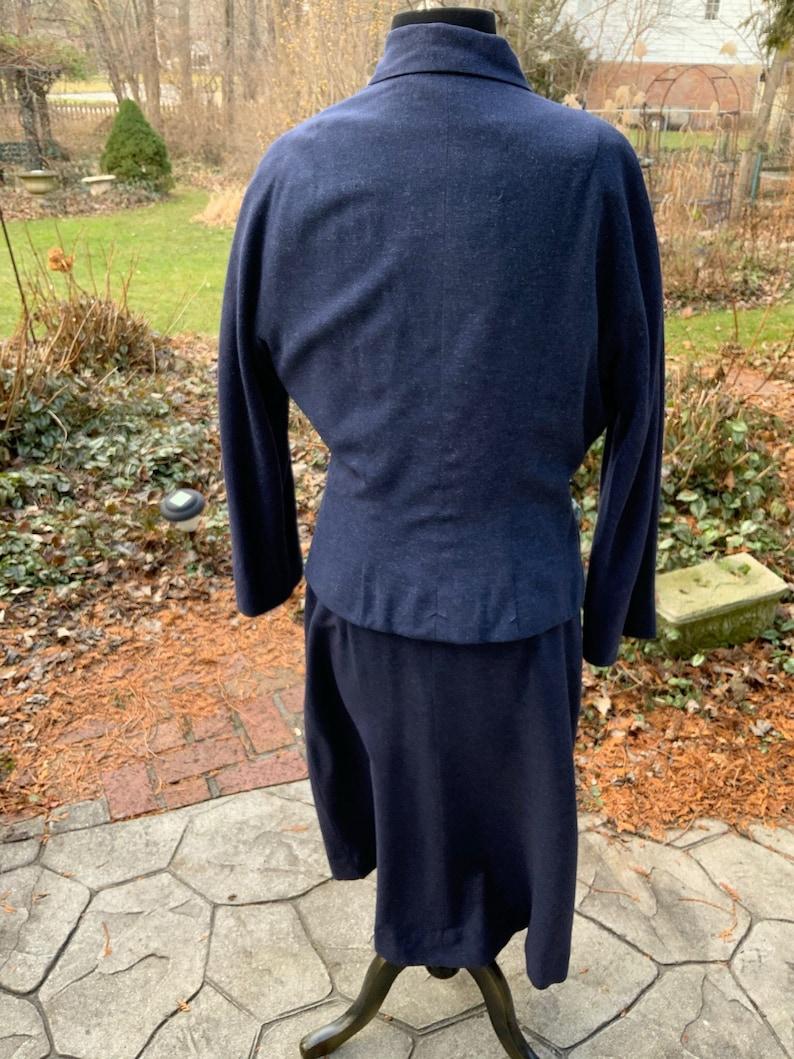 Signed Eisenberg Original 1930s suit in blue heather
