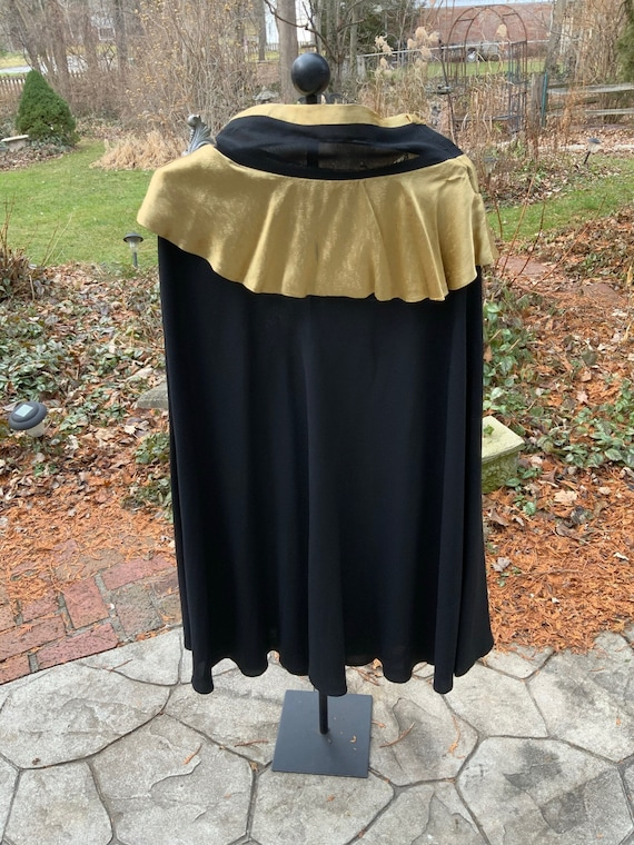 Gold and black bias-cut 1930s skirt