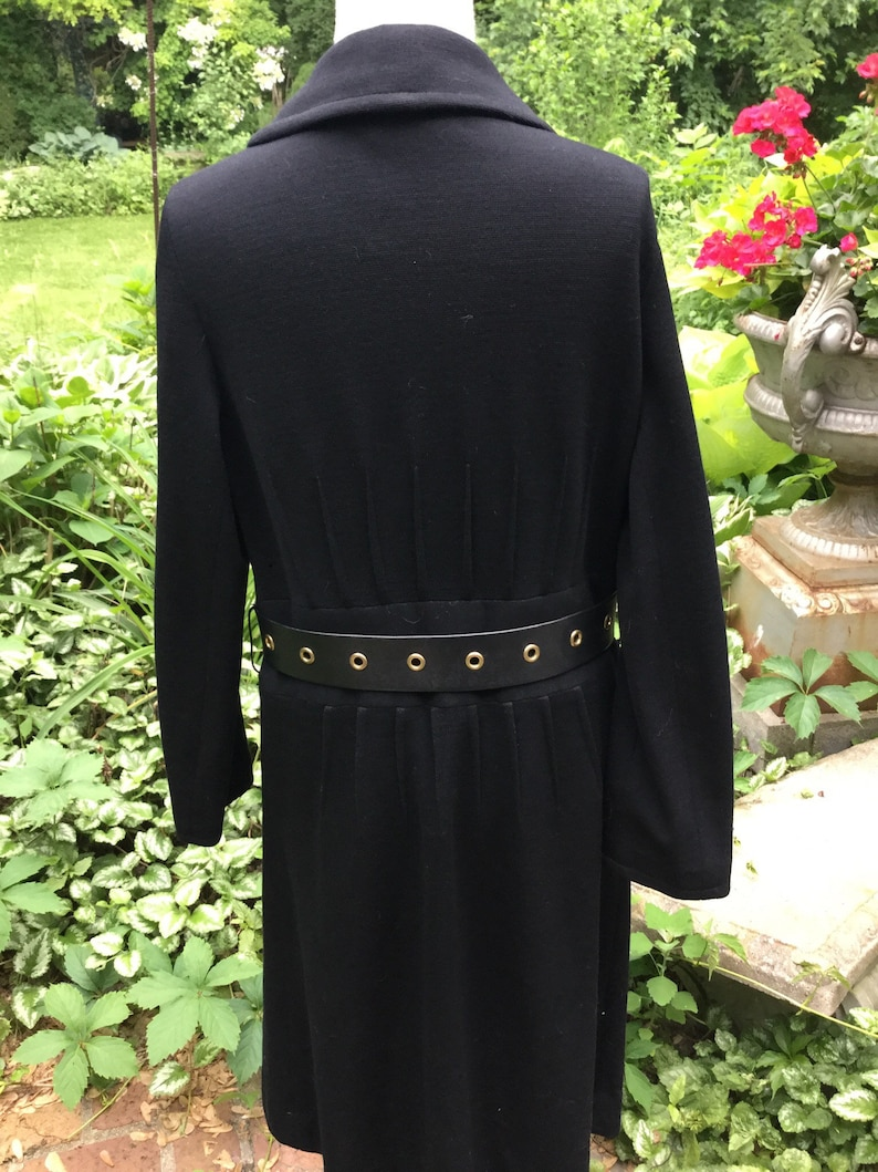 Another custom 1960s wool knit dress steeped in luxury
