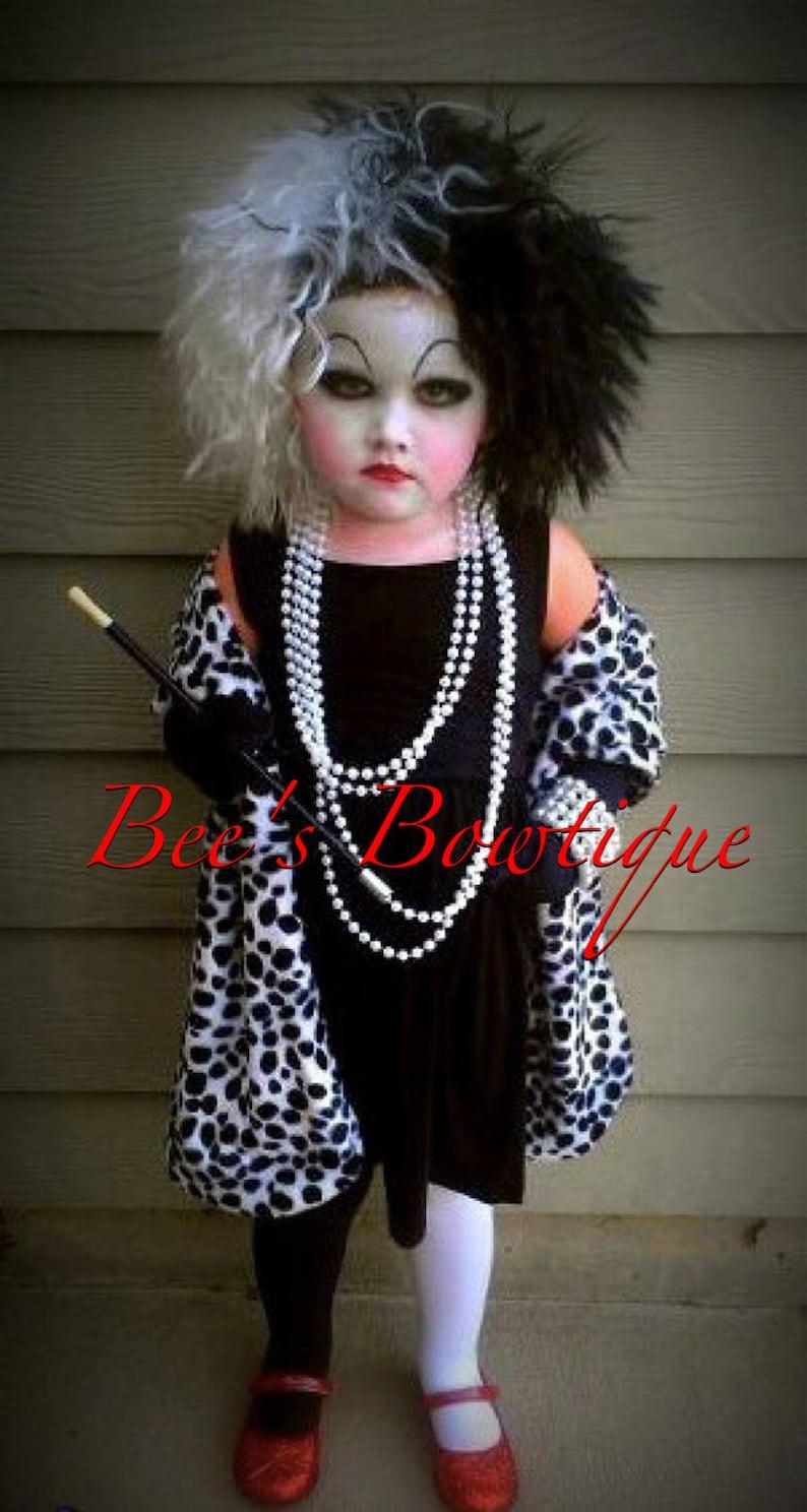 Ready To Ship Cruella Deville Shawl For Costume 101 Dalmatians Etsy