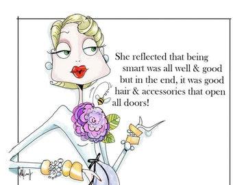 NEW! New! Funny accessory humor birthday card for woman, Funny Woman Card, Cards for woman, Women Birthday card