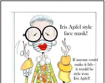 NEW! New! Iris Apfel Funny woan Birthday Iris Apfel Style Card, Birthday Card for Women Birthday Card,  Accessory Quote, Fabulous Birthday