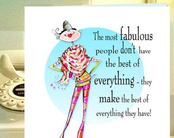 woman Birthday card, funny birthday card friend, women humor birthday, fashionista card, funny cards, birthday for her, fashion birthday