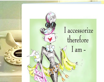 Friendship card funny for women, friendship card, Friendship, uplifting cards,  Audrey Hepburn inspired,  funny woman humor cards,
