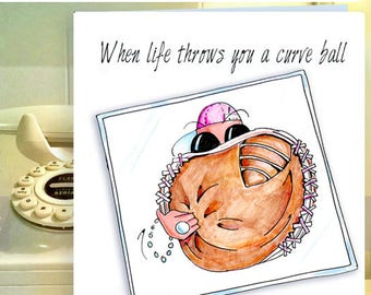 Breast Cancer Get Well, Breast Cancer Support Cards, Pink Breast Cancer card, Get Well Cancer card, funny friendship, cards for friends
