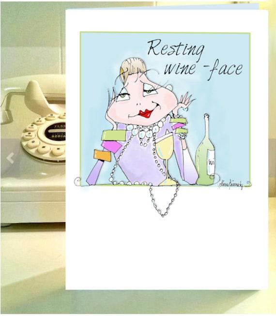 Buy 3cards Get 1 Free Women Humor Greetings Cards Uplifting Etsy