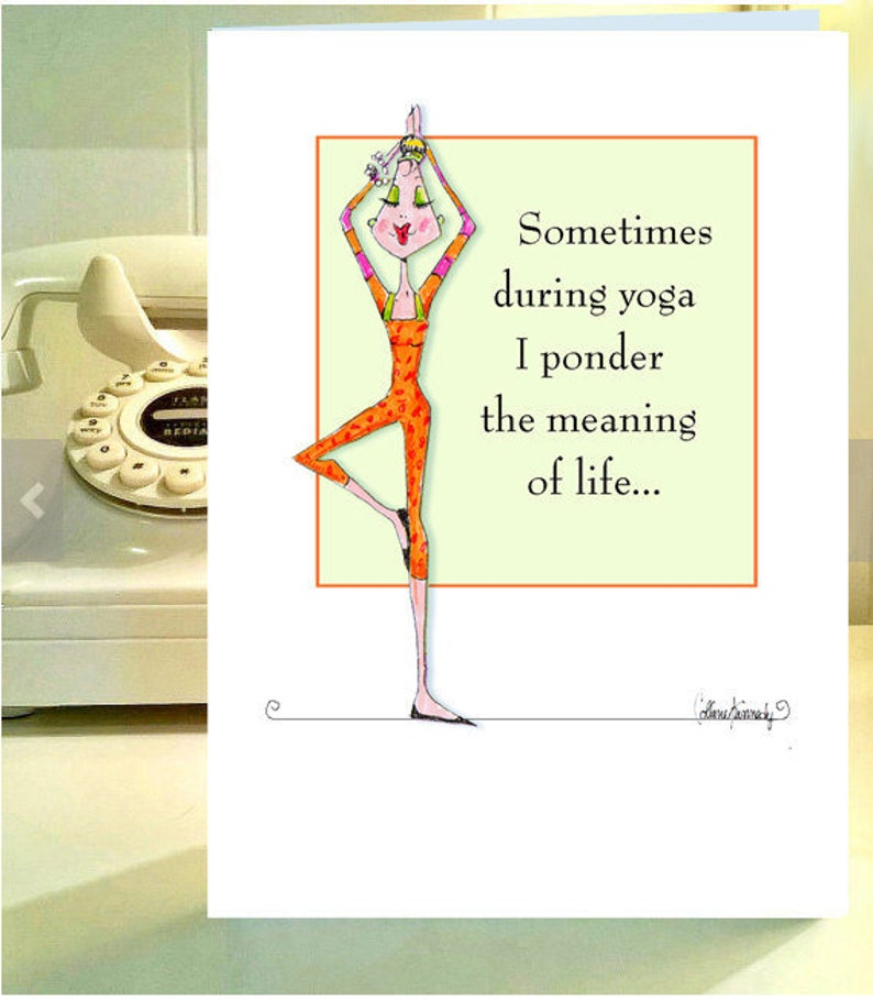 Tarjeta De Cumpleanos Divertida Humor Yoga Superacion Etsy