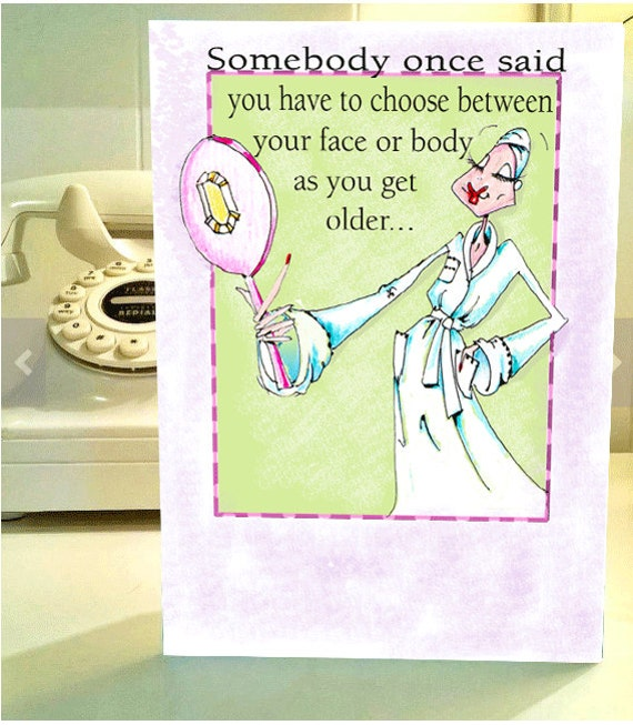 Funny Birthday Funny Birthday Card Funny Women Birthday Etsy