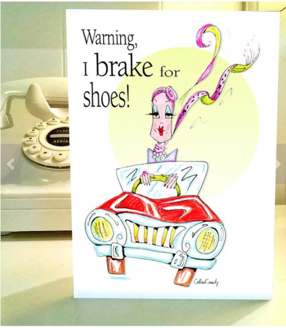 Tarjeta De Cumpleaños Divertida Las Mujeres Zapato Tarjeta De Humor Humor Del Calzado Para Las Mujeres Zapato Humor Divertidos Saludos Para Las