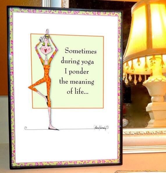 Carte Danniversaire Drole Humour De Yoga Faire Face Etsy